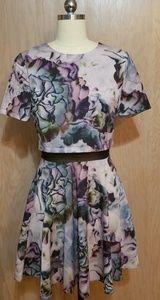 Asos watercolor dress size 6